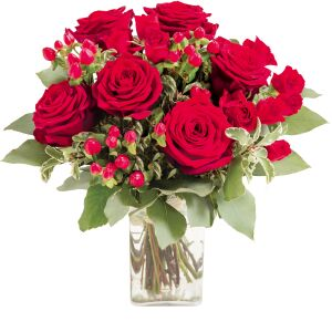 Bouquet of red roses Evita